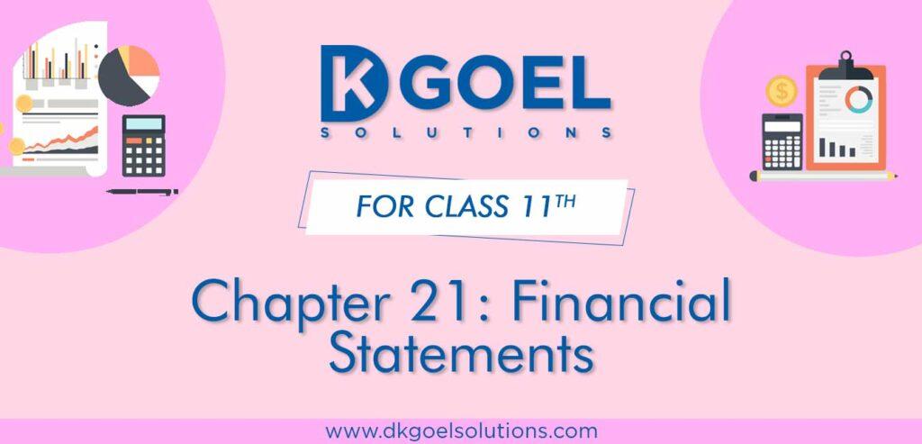DK Goel Solutions Class 11 Chapter 21