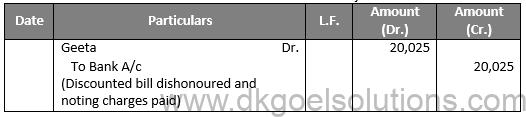 DK Goel Solutions Class 11 Accounts Chapter 18 Bills of Exchnage
